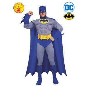 BATMAN DELUXE LICENSED DC COMICS ADULT DRESS UP COSTUME SIZE S BY RUBIE'S **NEW*