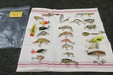 25 Vintage Fishing Lures LS Mepps Shakespeare Spinner Wood Tackle Heddon Sonic