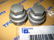 2  Chevy Buick Pontiac HHR Malibu Dark Silver Lug Nut Cap Covers OEM New Genuine