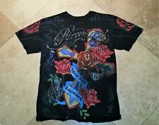 Remetee by Affliction Destroyed Short Sleeve City of Angels Tee Shirt Cotton S