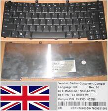 CLAVIER QWERTY UK ACER TM2200 2200 2700 NSK-AEC0U 9J.N7082.C0U, PK13ZHN02Q0 Noir