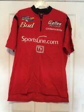 Sportsline.com Budweiser TV Guide Gallies Racing Pit Crew Shirt Indy Racing