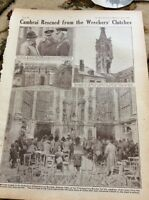 M5-2 Ephemera 1918 Picture 1 Page Cambrai Cathedral Uk Troops