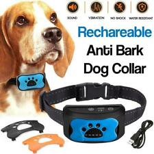 More details for rechargeable waterproof stop dog barking collar anti bark sound & vibration uk