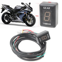 6 Speed 0-6 Digital LED Gear Indicator Display Shift Lever Sensors For Yamaha