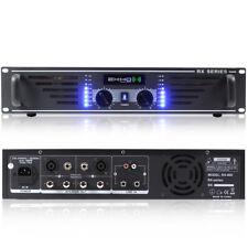 New Ekho Pro RX600 Power Amplifier - DJ Disco PA Sound System 2U Rack Amp 600W