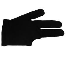Billard 3 Finger Handschuh Pool Snooker Standard schwarz Universal  1Stück