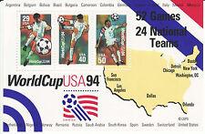 Set of 2 MINT SHEET World Cup Soccer Souvenir Sheet w/SOCCOR PLAYER KICKING MNH