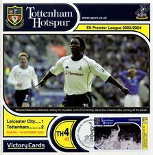 Spurs 2003-04 Leicester City (Mbulelo Mabizela) Football Stamp Victory Card #304