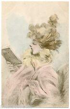 """a/s HENRI BOUTET. JOLIE FEMME. BEAUTIFUL WOMAN. N° 111. Série """" LISEUSES """""""