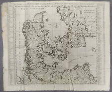 Chatelain Large Original Antique Map for Danemark