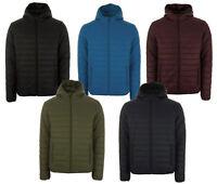 Henleys Men's Destruct Hooded lightweight quilted Coat Jacket xmas gift