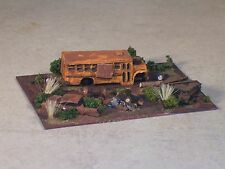 N Scale Railroad Trackside Abandon Medium Size School Bus Hobo Camp