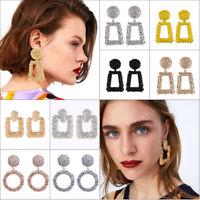 2018 Fashion Punk Dangle Geometric Big Drop Earrings For Women Statement Jewelry