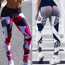 Womens Leopard Yoga Pants Ladies Fitness Leggings Running Gym Exercise Trousers