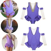 Kids Girls Halloween Fancy Dress Mesh Leotard+Arm Sleeves Cosplay Costume Outfit