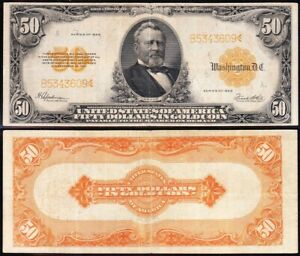VERY NICE Bold Crisp VF+ 1922 $50 *GOLD CERTIFICATE*! FREE SHIPPING! B5343609