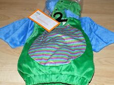 Infant Size 0-6 Months Green Blue Winged Dragon Halloween Costume Vest Headpiece