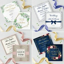 Personalised Wedding Ceremony Or Evening Invitations Invites With Envelopes