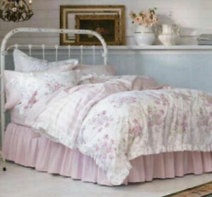 Rachel Ashwell Simply Shabby Chic ESSEX Floral Pink Stripe Full/ Queen Duvet