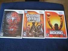 THREE Games ~ Spiderman 3, Boxing, Guitar Hero III ~…..for  Nintendo Wii