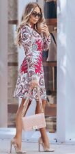 BNWT! Comino Couture Pretty in Pink Paisley Shirt Dress w/ Corset Belt Uk10 £160