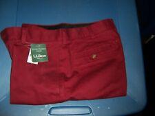 NWT L.L.BEAN Deep Red Cotton Shorts - SIZE 31