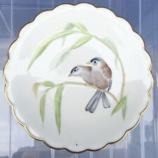 The Birds of Dorothy Doughty Dessert Plate 1976 Blue Winged Sivas and Bamboo