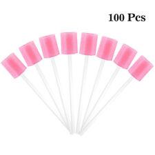 100pcs/set Disposable Oral Care Sponge Swabs Dental Tooth Cleaning Swabs Pink