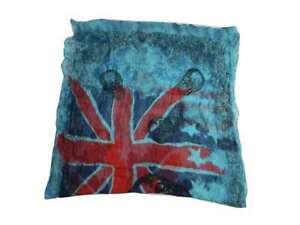 Sciarpa teschi e bandiera inglese turchese in organza