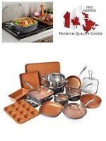Gotham Steel 20 Piece All in One Kitchen Cookware + Bakeware Set