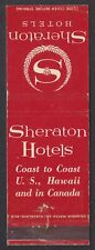 Sheraton Hotels  Old Matchbox cover