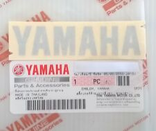 100% GENUINE YAMAHA 80mm x 18mm METALLIC SILVER DECAL STICKER BADGE LOGO