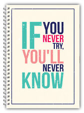 DIET DIARY SLIMMING TRACKER FOOD DIARY WEIGHT LOSS A5 JOURNAL Never Try Never Kn