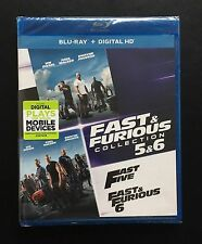 Fast Five & Fast & Furious 6 Blu-ray + Digital HD 2 Movie Collection Brand New!