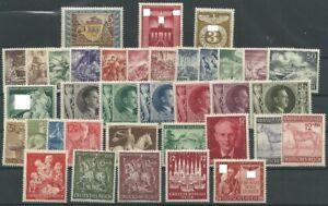 Deutsches Reich aus 1943 ** postfrisch MiNr. 828-863 kompletter Jahrgang