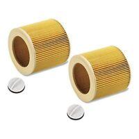 2x Patronen Filter für Kärcher 4002 WD 2.200, WD 3.200, WD 3.300 M 6.414-552.0
