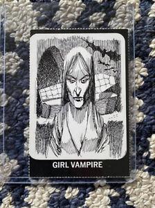 Vintage Original Dracula's Greatest Hits Jack Davis Art Girl Vampire Card
