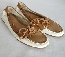 Sperry Top Sider Audrey Moccasin Loafer Brown Leather Deck Boat Shoes Womens 9 M
