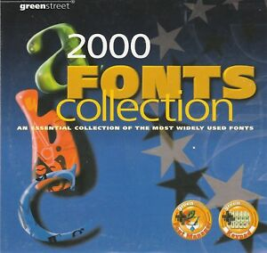 2000 font CD are TrueType fonts (.ttf/.ttc) Scalable Any Windows Systems CD only
