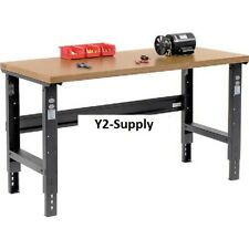 """NEW! 60""""W X 30""""D Shop Top Square Edge Workbench - Adjustable Height - Black!!"""