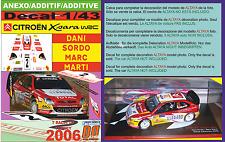 ANEXO DECAL 1/43 CITROEN XSARA WRC DANI SORDO R.TURKEY 2006 4th (01)