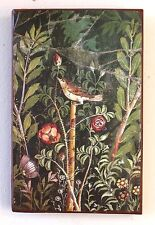 Pompeji Italien Vogel Rose Vesuv Neapel Fresko Einzelstück auf altem Ziegel 10