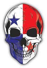 "Skull Flag Panama Car Bumper Sticker 4"" x 5"""