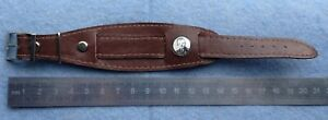 Natural Leather Strap For Soviet Watch Portrait of Yuri Gagarin Made in USSR
