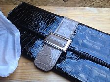 Black Patent Faux Crocodile Skin Clutch Bag/New & Packaged/Avon/Evening/Occasion