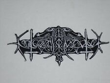 NOKTURNAL MORTUM BLACK METAL IRON ON EMBROIDERED PATCH