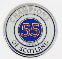 Glasgow Champions Of Scotland 55 Times Badge For Rangers Fans