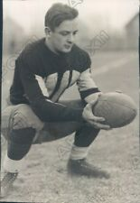 1930 Springfield College Pride Football Player Bob Whitel Press Photo
