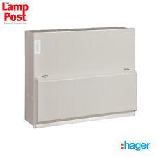 Hager VML410H - 10 Way 63A 30mA RCCB Incomer Metal Consumer Unit Amendment 3